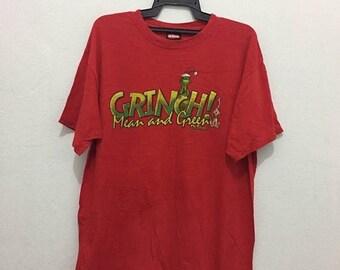 rare!!vintage grinch dr seuss shirt nice design