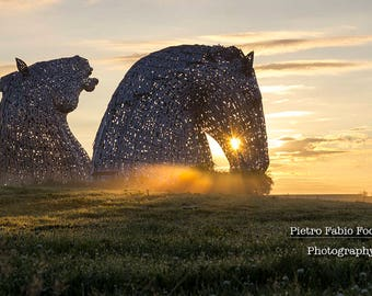 Early morning at The Kelpies.
