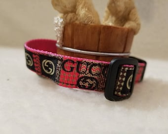 Fashion Handmade Dog Collar 5/8 Inch Wide Medium & Small