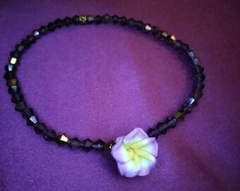 Purple Hawiian Flower Anklet