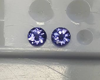 4mm natural Tanzanite
