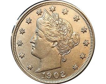 1902 Liberty Head V Nickel - Choice BU / MS / UNC