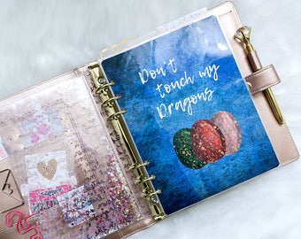 Don't Touch My Dragons planner dashboard- PERSONAL / A5- ringbound planner inserts