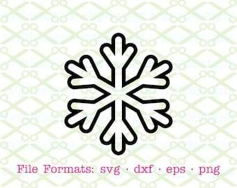 SNOWFLAKE SVG, Dxf, Eps, Png. Christmas  Svg, Digital Cut Files for Cricut & Silhouette; Holiday Svg, Snowflake Silhouette, Holiday Clipart