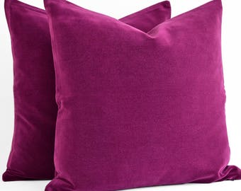 SALE 50 % Cherry Velvet Pillow Cover 20x20 Pillow Velvet Cherry Pillow Designer Pillow Velvet Pillows Velvet Cushion Covers Cherry Sofa