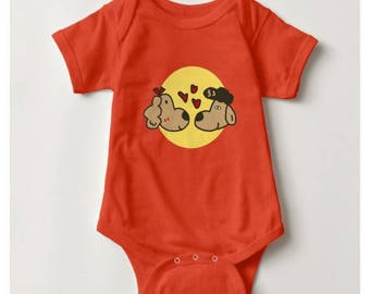 Halo in Love Baby Bodysuit_Orange