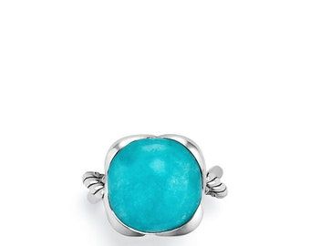 David Yurman Amazonite Continuance Sterling Silver Ring