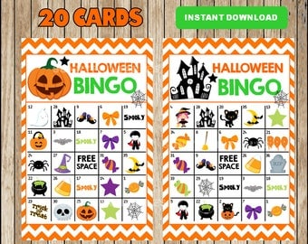 It's just a picture of Adaptable 25 Printable Halloween Bingo Cards