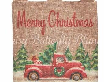 Christmas Truck Yard Flag