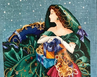 Vintage Mirabilia Counted Cross Stitch Christmas Elegance pattern, new in package