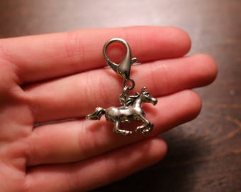 Silver Horse Bridle Charm