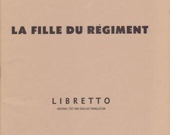1971 Metropolitan Opera Libretto - La Fille Du Régiment