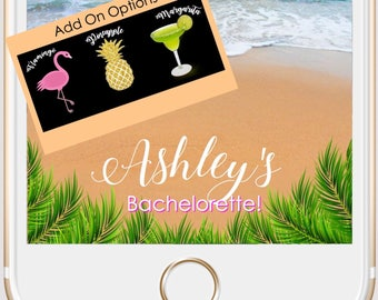 Custom Tropical Bachelorette/Bridal Shower/Birthday Snapchat Filter