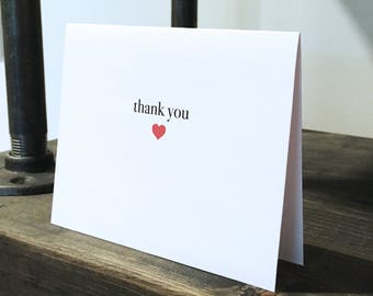 Thank you card / Blank inside / Simple modern clean thank you card / Cute thank you card / Modern thank you card / Notecard / Greeting card