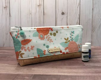 Perfect Essential Oil Pouch / Poppy Floral EO bag
