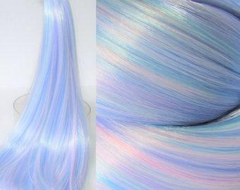 PASTEL PRINCESS Blue/Pink/Lilac Nylon Blend Doll Hair for Custom OOAK/Rerooting