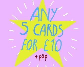 5 card bundle