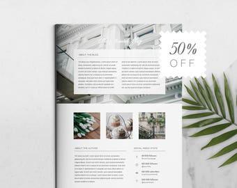 3 Page Blog Media Kit template | Marketing Kit for Bloggers | Social Media Kit | Branding Kit | MS Word Template | Template