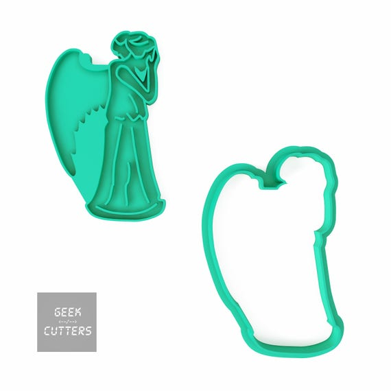 Doctor Who - Weeping Angel Cookie Cutter - *Dishwasher safe option* - 3D Printed