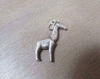 Silver Charm / Vintage Charm / Sterling Silver / Giraffe / African Safari / Animal / Jewelry / #3456