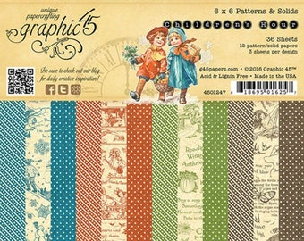Children's Hour 6x6 Patterns & Solids Paper Pad