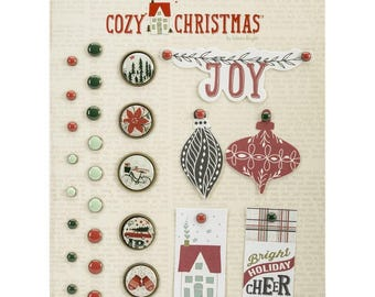 My Minds Eye - Cozy Christmas Collection - Decorative Brads