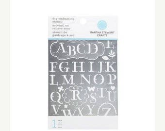 Summer Sale Martha Stewart Crafts - Dry Embossing Stencil - Traditional Alphabet