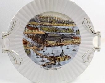 Rare 1893 Chicago World's Fair Souvenir Plate   394