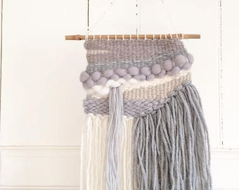 Grey Textured Woven Wall Hanging