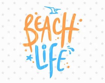 Beach Life SVG file Beach Life SVG Beach Svg Vacation Svg Summer svg Sea Life svg Starfish svg Cut File Ocean Svg Silhouette Cut File Cricut