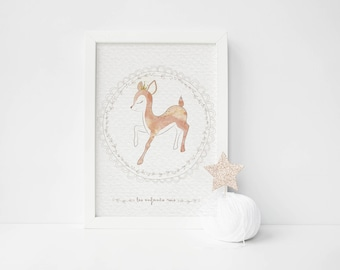 "Poster deer ""Kings children"""