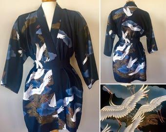 Vintage Japanese Kimono Robe, Japanese robe, vintage kimono, Coachella clothing, asian robe, oriental clothing, vintage clothing for sale