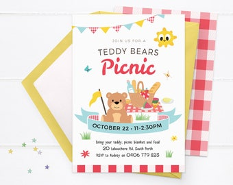 picknick partei einladung | etsy, Einladung