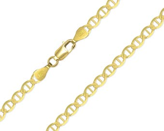 """14K Solid Yellow Gold Mariner Necklace Chain 4.4mm 18-24"""" - Anchor Link"""