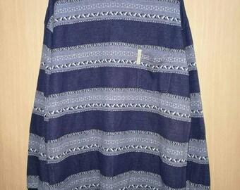 Rare!! Quiksilver Spellout Small Logo Striped Sweatshirt