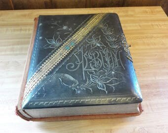 Antique Photo Album From Old-Time Farm Auction Some Pictures #10