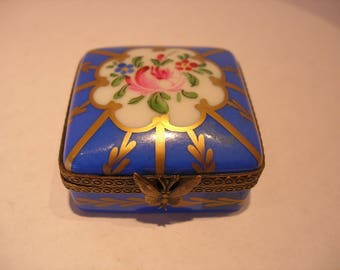 Limoges Square Trinket Box