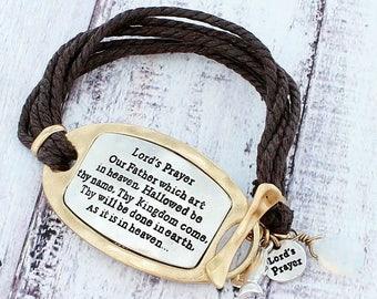 Lord's Prayer toggle bracelet