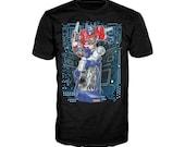 Transformers Optimus Prime Cutaway Official Hasbro Mens Tshirt (Black)