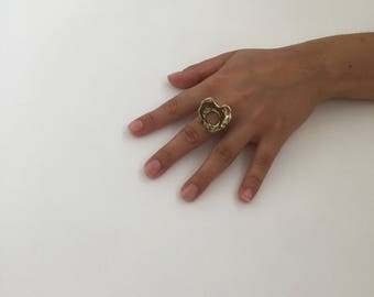 Vintage weirdy wavey chunky costume ring
