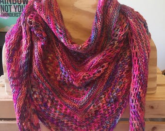 Splash of Color - Summer Shawl