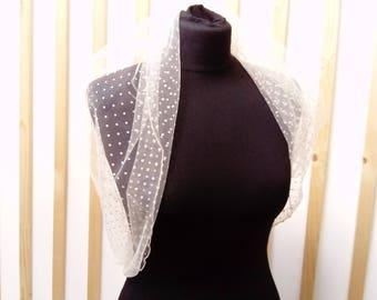 Bridal wrap,  shawl, bridal shawl, bridal stole, accessory,crema shawl , crema stole