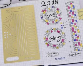 """Bullet Journal Stencil Template Planner Scrapbooking Supplies Papercraft DIY  ,Fit A5 Notebook,,tibetara®, 4*7"""",1 each/lot-10192450"""