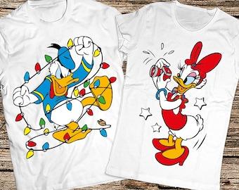 Couple Christmas shirts, Couple Christmas gift, Disney Christmas shirts, Funny disney couple shirts, Funny Christmas shirts. Donald & Daisy