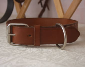 Strong Leather Dog Collar