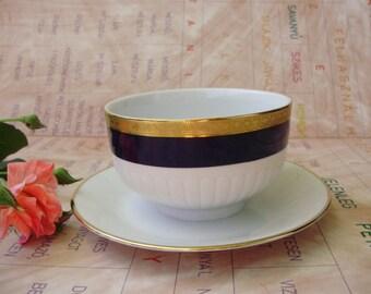 Vintage German Art Deco style  Porcelain Sauce, Gravy Boat, Syrup pot,pouring