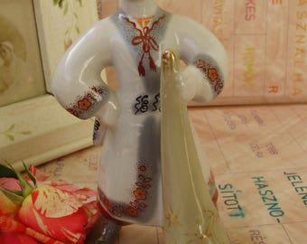 Vintage Russian porcelain boy  figurine FAIRY TALE CHARACTER ,handpainted,фарфоровая статуэтка