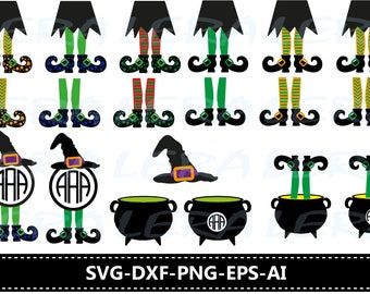 60 % OFF, Witch Legs in Cauldron svg, Halloween svg, Witch Legs Monogram svg, Witch Legs svg files Svg, Dxf, Png, Witch Legs clipart