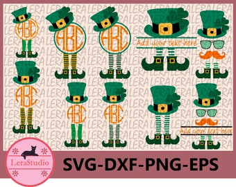 60 % OFF, Leprechaun Legs SVG, Patrick Monogram Svg, dxf, ai, eps, png, Silhouette, Digital Cutting Files, St Patricks Day SVG cut files
