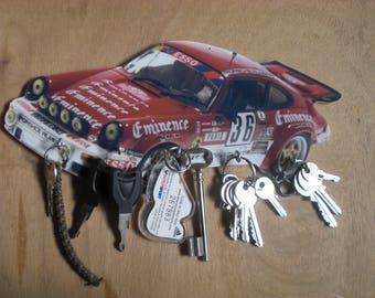 key wall porsche carrera hanging key porsche carrera gift custom pet portrait anniversary gift
